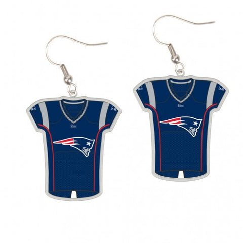 New England Patriots Earrings Jersey Style