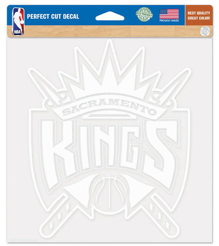 Sacramento Kings Decal 8x8 Die Cut White