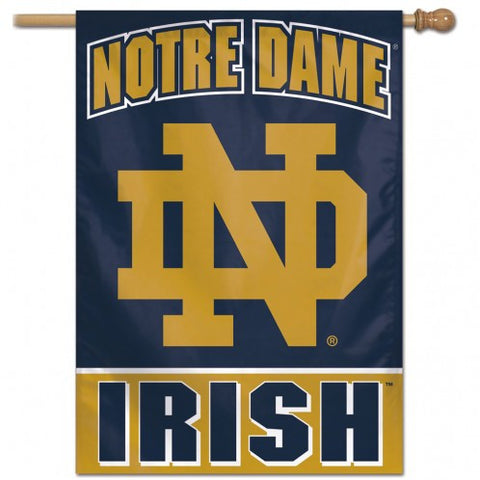 Notre Dame Fighting Irish Banner 28x40 Vertical Alternate Design