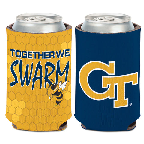 Georgia Tech Yellow Jackets Can Cooler Slogan Design