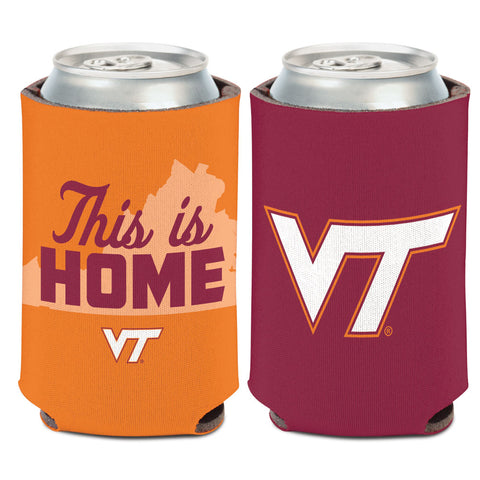 Virginia Tech Hokies Can Cooler Slogan Design