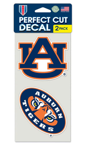 Auburn Tigers Set of 2 Die Cut Decals