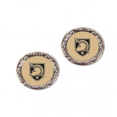 Army Black Knights Earrings Round Style