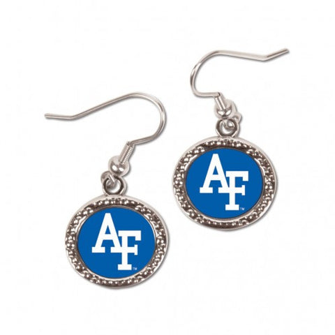 Air Force Falcons Earrings Round Style