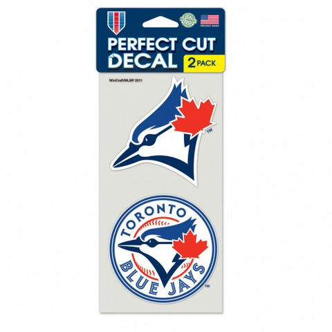 Toronto Blue Jays Decal 4x4 Die Cut Set of 2