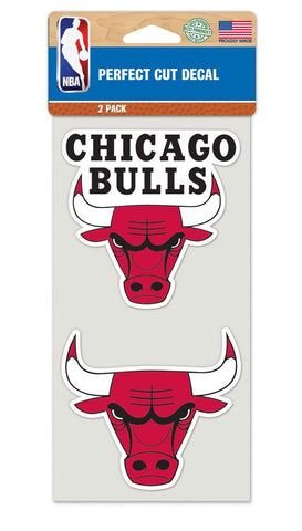 Chicago Bulls Decal 4x4 Die Cut Set of 2