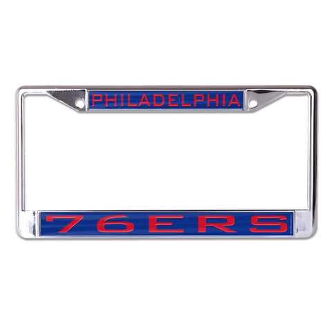 Philadelphia 76ers License Plate Frame - Inlaid