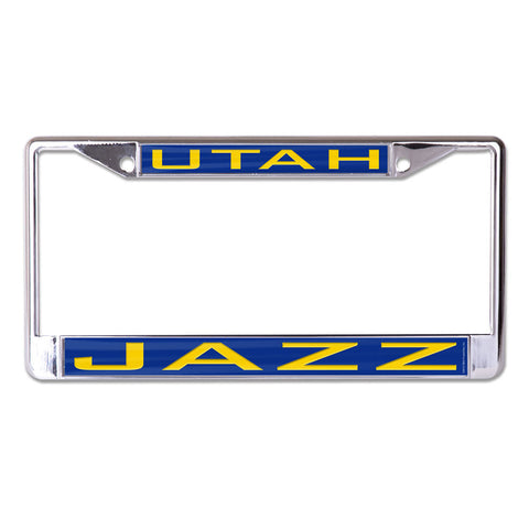 Utah Jazz License Plate Frame - Inlaid