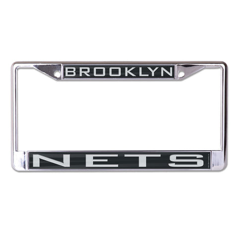 Brooklyn Nets License Plate Frame - Inlaid