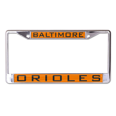 Baltimore Orioles License Plate Frame - Inlaid