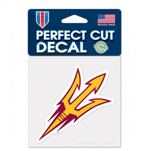 Arizona State Wildcats Perfect Cut Color Decal 4x4""