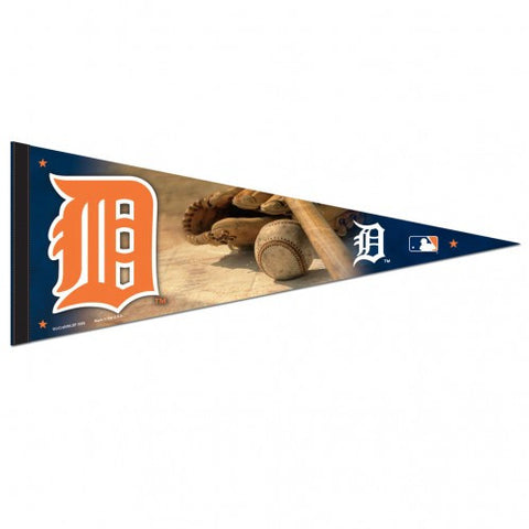 Detroit Tigers Ball and Glove Premium Pennant 12x30""