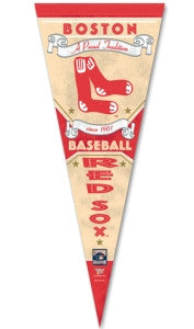 "Boston Red Sox Premium Pennant 12x30"" - Cooperstown"