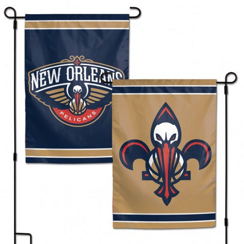 New Orleans Pelicans Flag 12x18 Garden Style 2 Sided