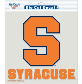 Syracuse Orange Die Cut Color Decal 8x8""