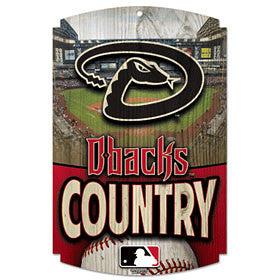 Arizona Diamondbacks Wood Sign - Country