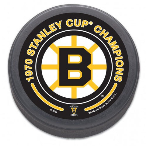 Boston Bruins Hockey Puck - 1970 Stanley Cup Champ - Bulk