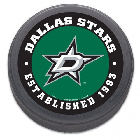 Dallas Stars Hockey Puck - Est 1993 - Bulk