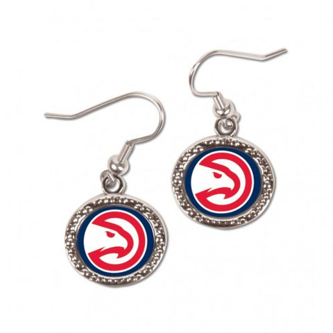 Atlanta Hawks Earrings Round Style