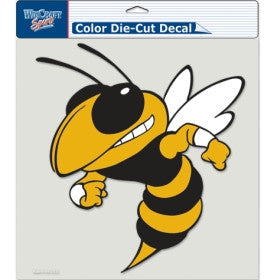 Georgia Tech Yellow Jackets Die Cut Color Decal 8x8""