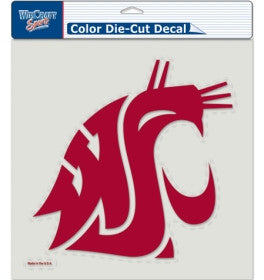 Washington State Cougars Die Cut Color Decal 8x8""