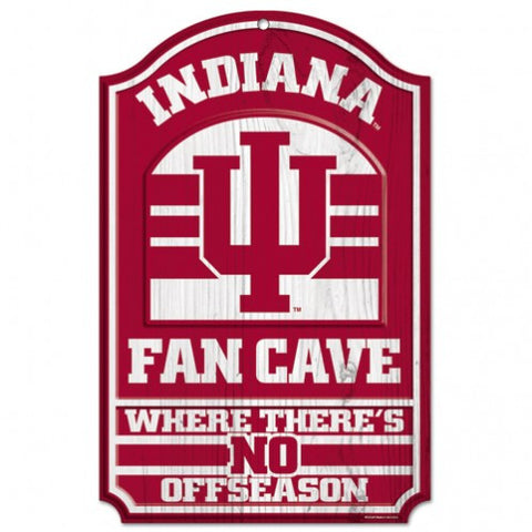 "Indiana Hoosiers 11x17"" Wooden Fan Cave Sign"