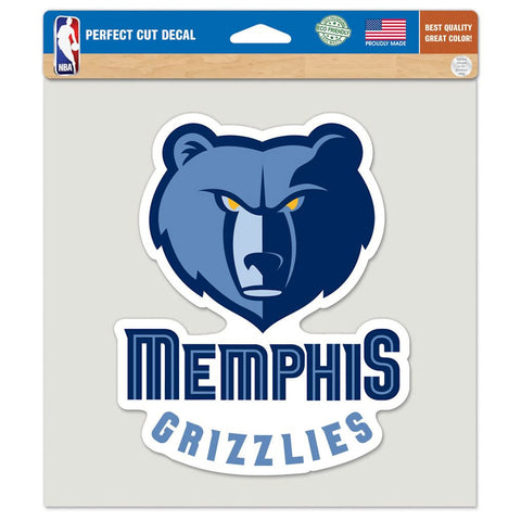 Memphis Grizzlies Die Cut Color Decal 8x8""