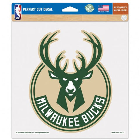 Milwaukee Bucks Decal 8x8 Perfect Cut Color