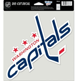 Washington Capitals Die Cut Color Decal 8x8""