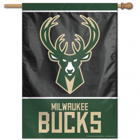 Milwaukee Bucks Banner 28x40 Vertical