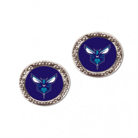 Charlotte Hornets Earrings Round Style