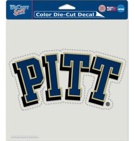 Pittsburgh Panthers Die Cut Color Decal 8x8""