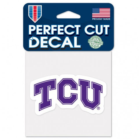TCU Horned Frogs Perfect Cut Color Decal 4x4""