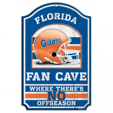 "Florida Gators 11x17"" Wooden Fan Cave Sign"
