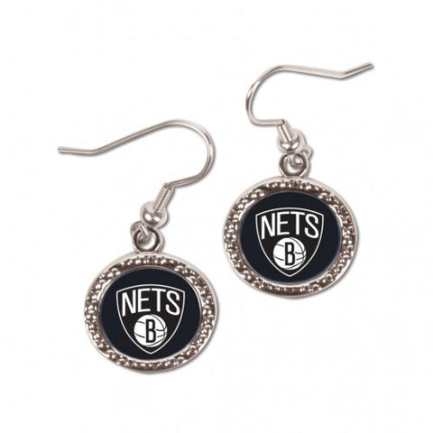 Brooklyn Nets Earrings Round Style