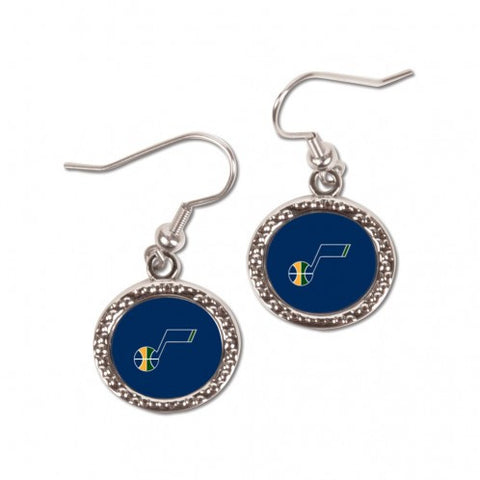 Utah Jazz Earrings Round Style
