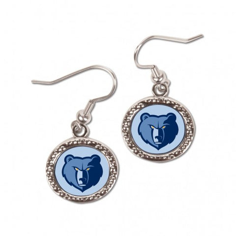 Memphis Grizzlies Earrings Round Style