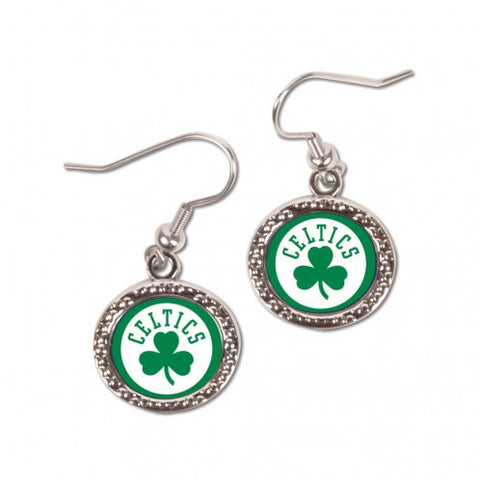 Boston Celtics Earrings Round Style