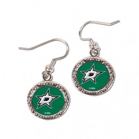 Dallas Stars Earrings Round Style