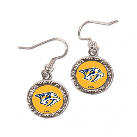 Nashville Predators Earrings Round Style