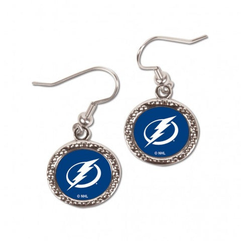 Tampa Bay Lightning Earrings Round Style