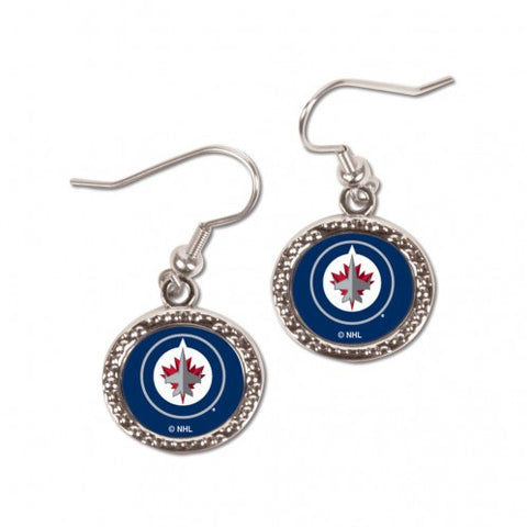 Winnipeg Jets Earrings Round Style