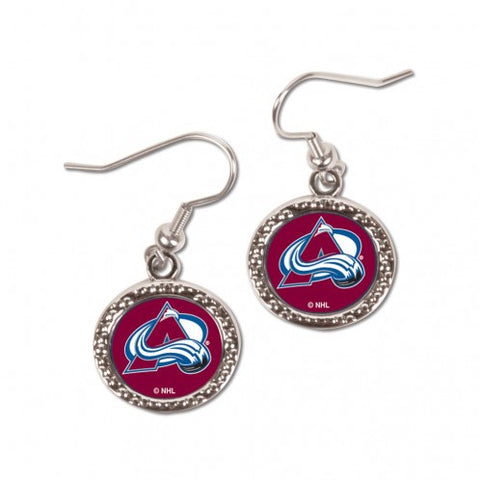 Colorado Avalanche Earrings Round Style