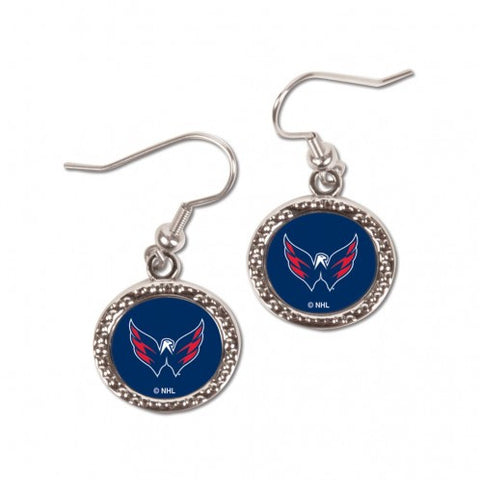 Washington Capitals Earrings Round Style