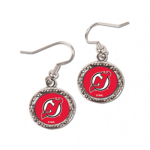 New Jersey Devils Earrings Round Style