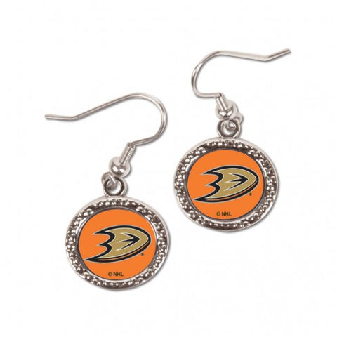 Anaheim Ducks Earrings Round Style