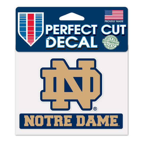 Notre Dame Fighting Irish Perfect Color Decal 4.5x5.75""