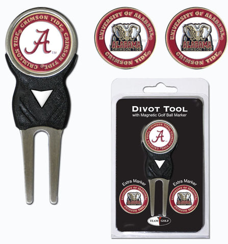 Alabama Crimson Tide Golf Divot Tool with 3 Markers
