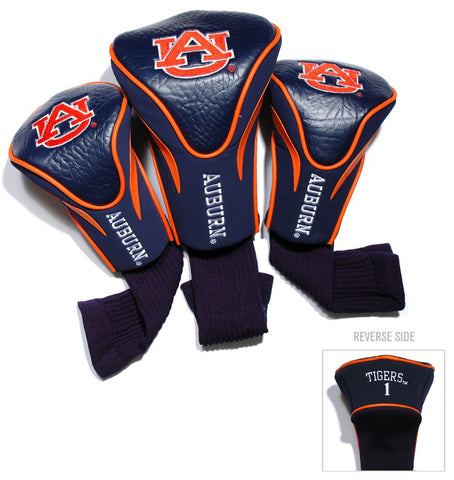 Auburn Tigers Golf Club 3 Piece Contour Headcover Set