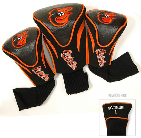 Baltimore Orioles Golf Club 3 Piece Contour Headcover Set